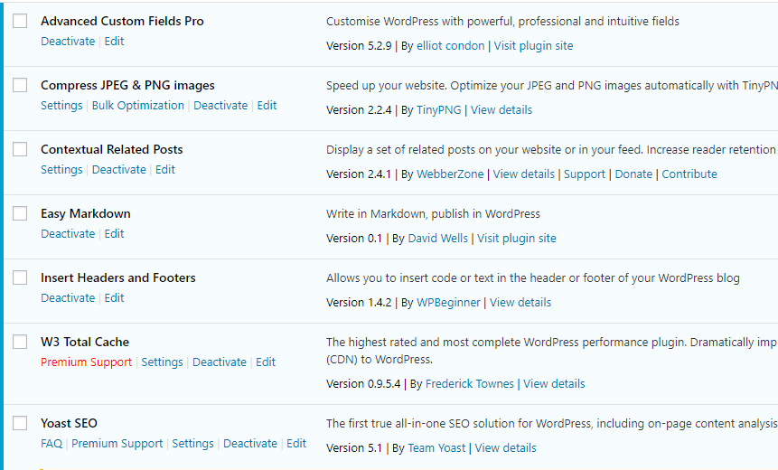 Minimal WordPress Plugins